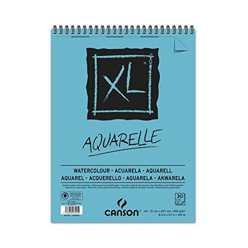 CANSON XL® Aquarelle, Aquarellblock, DIN A4, 30 Blatt, 300 g/m²