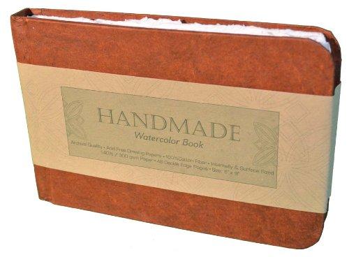 Global Art Materials Handbuch Tagebuch, Handarbeit, Aquarellbuch, 22,9 x 30,5 cm, Hochformat Buch 9' x 6' Landscape weiß
