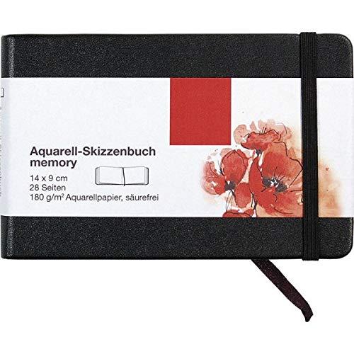 Aquarell-Skizzenbuch MEMORY 28 Seiten, 14 x 9 cm