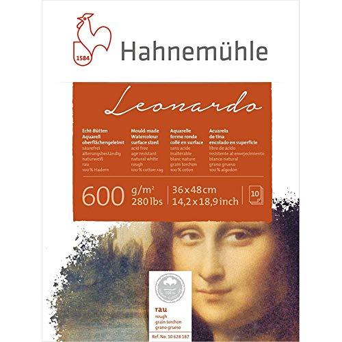 Aquarellblock Leonardo rau 600g/m², 36x48cm, 10Blatt