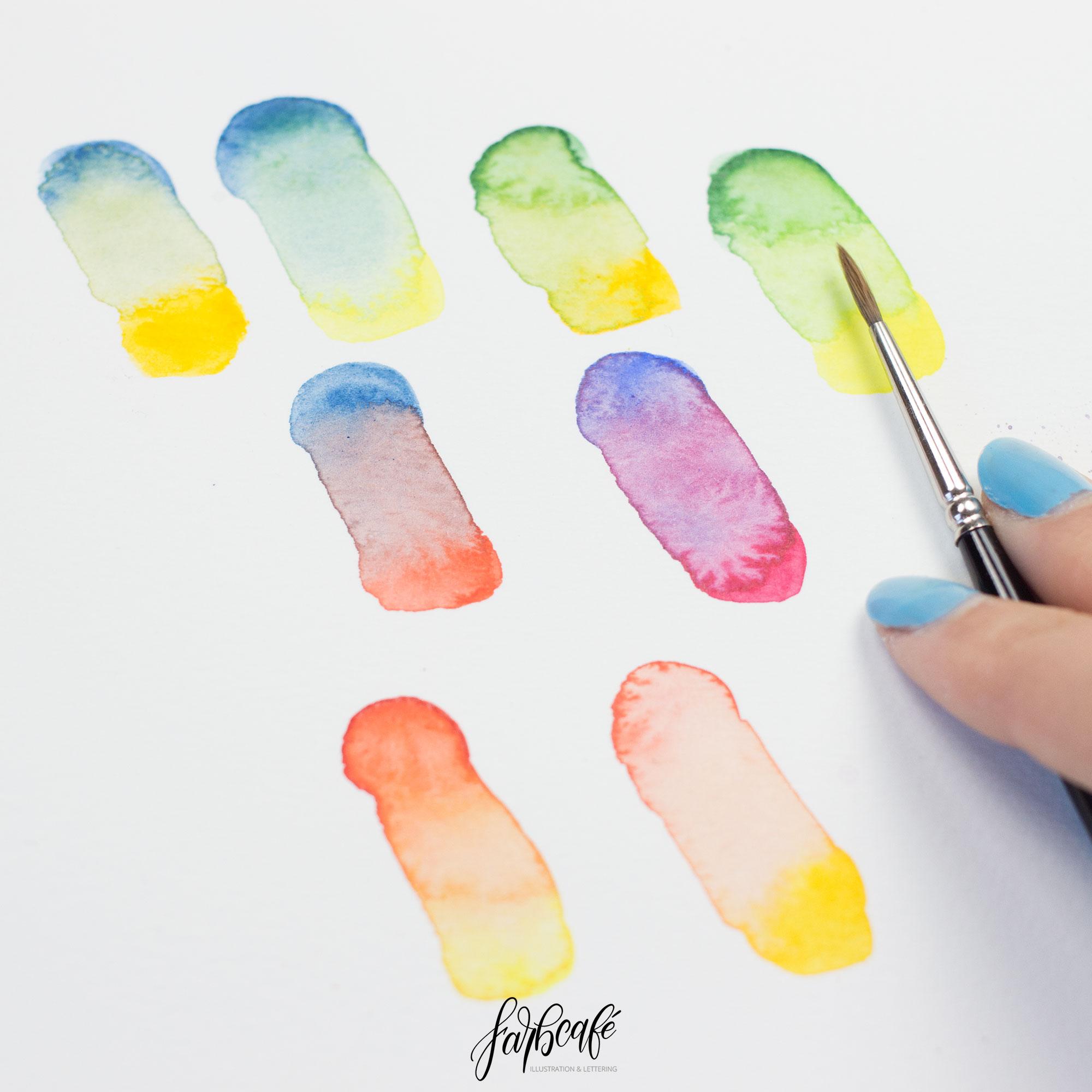aquarellfarben richtig mischen • wie du graue farben vermeidest